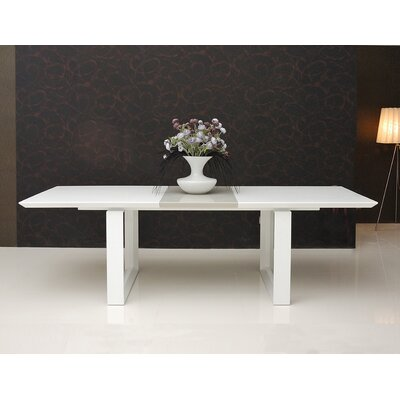 Natalia Extendable Dining Table Finish: White Lacquer