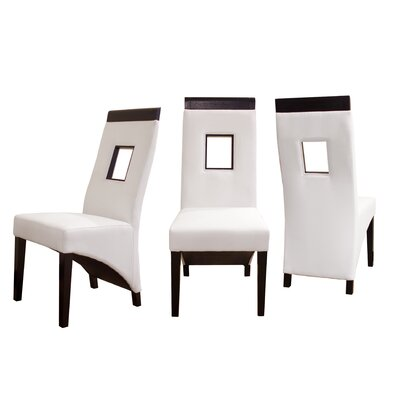 Vida Genuine Leather Upholstered Dining Chair