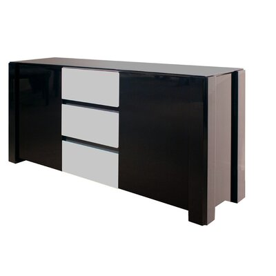 Natalia Sideboard Color: Black Lacquer