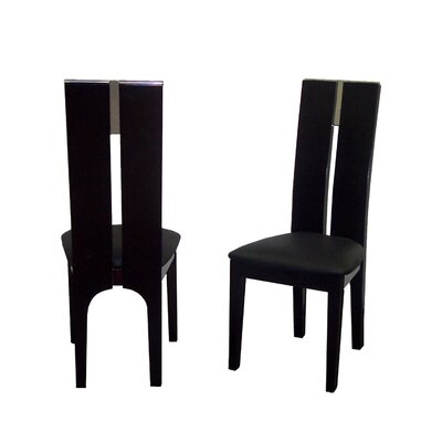 Avanti Genuine Leather Upholstered Dining Chair Side Chair Finish: Wenge