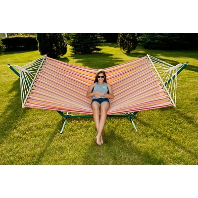 Sterling Outdoor Cotton Tree Hammock Color: Tropical, Size: 59 W x 78.75 D