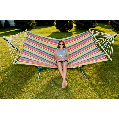Sterling Outdoor Cotton Tree Hammock Color: Island Rush, Size: 59 W x 78.75 D