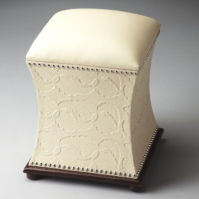 Modern Expressions Bunching Leather Ottoman