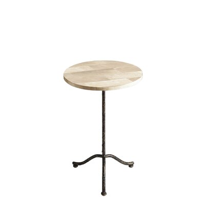 Chrystal Pedestal End Table