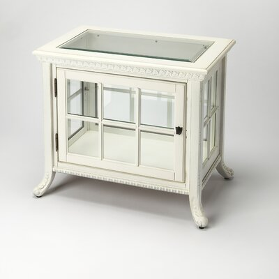 Chopin Chair Side Curio Cabinet Finish: Cottage White