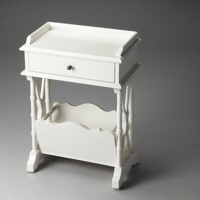 Cummings End Table Finish: Glossy White