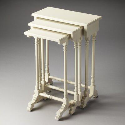 Dunham 3 Piece Nesting Tables Finish: Cottage White