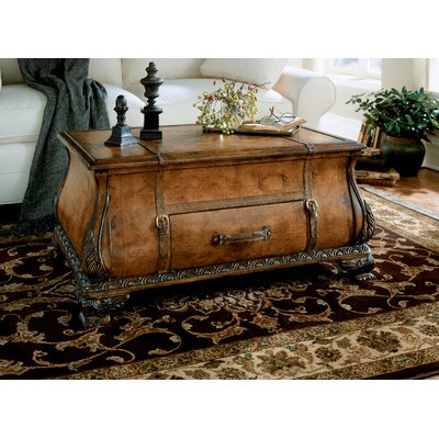 Butler Heritage Bombe Trunk Table with Old World Map Surface (BTL1278)
