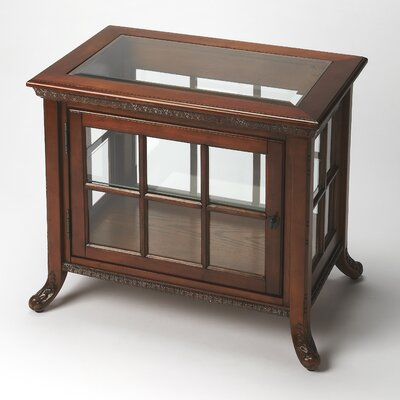 Chopin Chair Side Curio Cabinet Finish: Vintage Oak