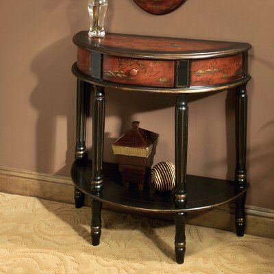 Cheap Butler Artist's Originals Demilune Console Table in Imperial Red (BTL1353)
