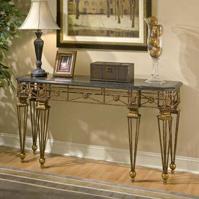 Cheap Butler Metalworks Console Table with Snakeskin Fossil Stone Top (BTL1826)