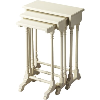 Dunham 3 Piece Nesting Tables Finish: Cottage White