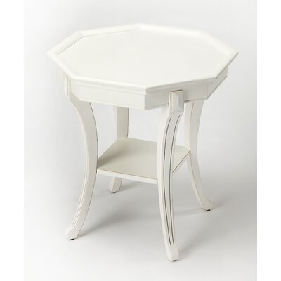 Kingston Try Table Color: Cottage White