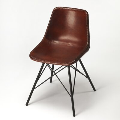 Hennessy Genuine Leather Upholstered Dining Chair