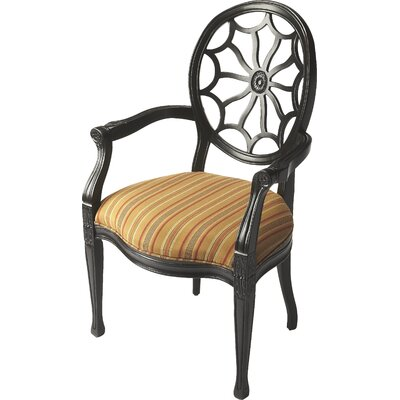 Armchair Finish: Black Licorice, Finish: Multicolor