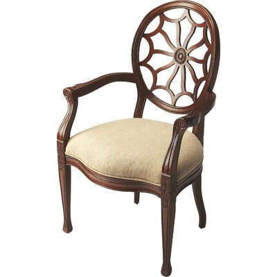 Armchair Finish: Beige, Finish: Plantation Cherry