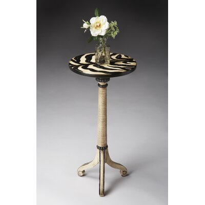 Cheap Butler Artist's Originals Pedestal Table in Distressed Zebra Stripe (BTL2450)