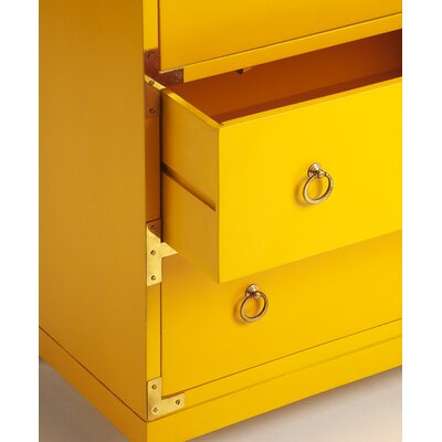 Cruse Campaign 4 Drawers Accent Chest