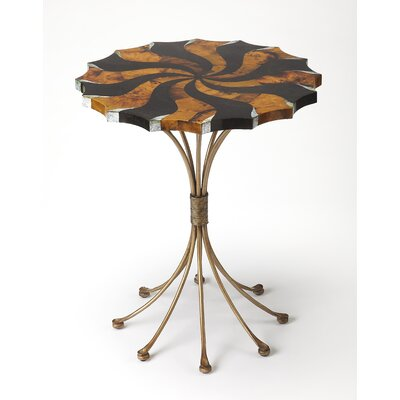 Geiser Pinwheel Pen Shell End Table