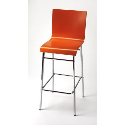 Centreville 40.5 Bar Stool Finish: Orange