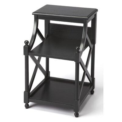 Nikki Driftwood End Table Color: Black