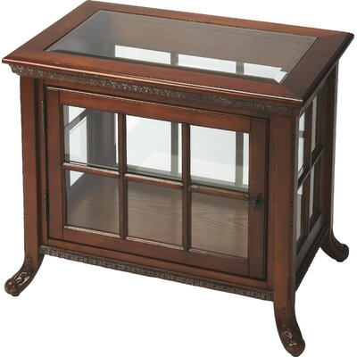 Chopin Chair Side Curio Cabinet Color: Vintage Oak