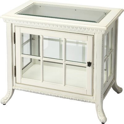 Chopin Chair Side Curio Cabinet Color: Cottage White
