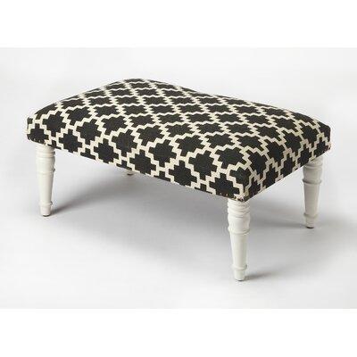 Willia Ottoman Upholstery: Black/White