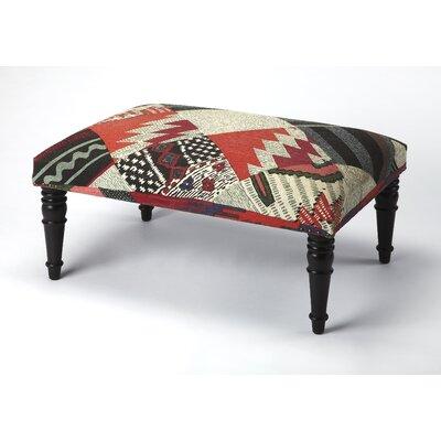 Willia Ottoman Upholstery: Black