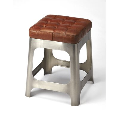Taj Iron and Leather 20 Bar Stool