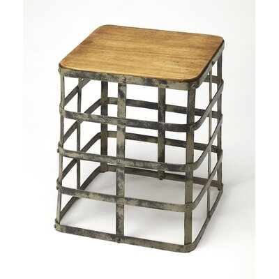 Burdette Gantry Industrial Chic End Table