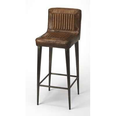 Adalwine Leather 32 Bar Stool