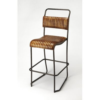 Adelheid Leather 31 Bar Stool