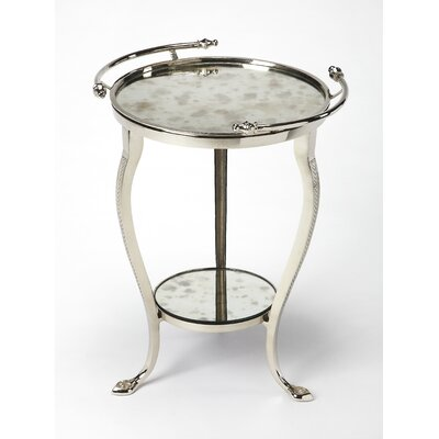 Nielsen Metal And Mirror End Table