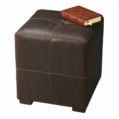 Modern Expressions Leather Ottoman