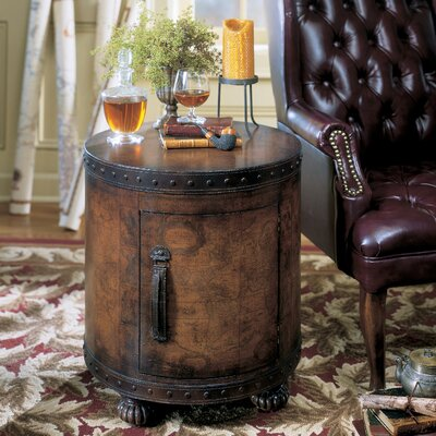 Heritage Old World Map End Table