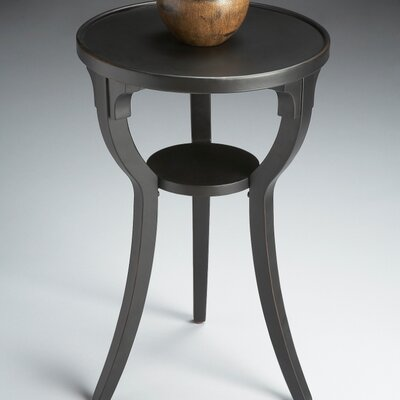 Lease to own Black Licorice Round End Table...