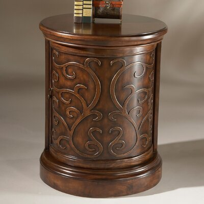 Heritage Drum End Table Color: Heritage