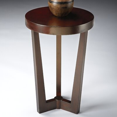 Lease to own Olive Ash Burl End Table Finish: Me...
