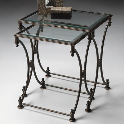 Chrystal 2 Piece Nesting Tables Color: Antique Bronze