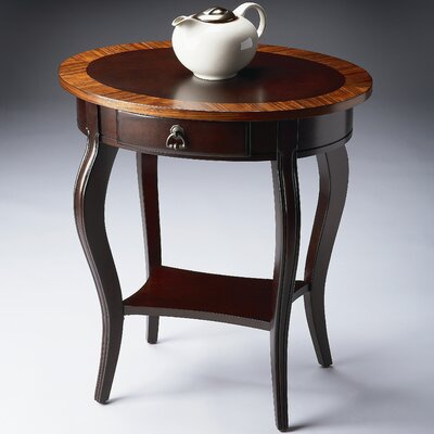 Cherry Nouveau 1 Drawer Oval End Table
