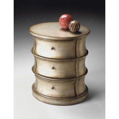Cheap Butler Artist's Originals Oval Drum Table in Brushed Pewter (BTL2194)