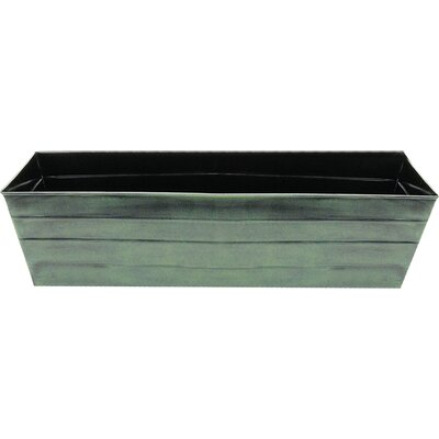 Galvanized Tin Window Box Planter Size: 9.5 H x 36 W x 12 D