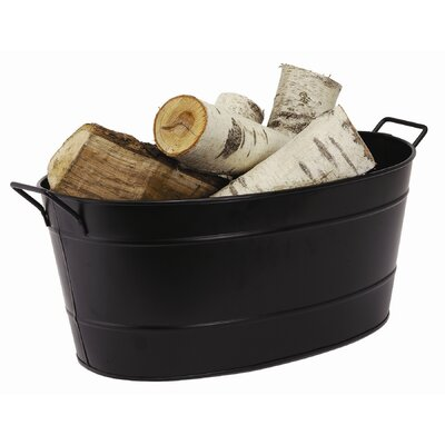 Oval Tub Planter Finish: Black Galvanized Steel