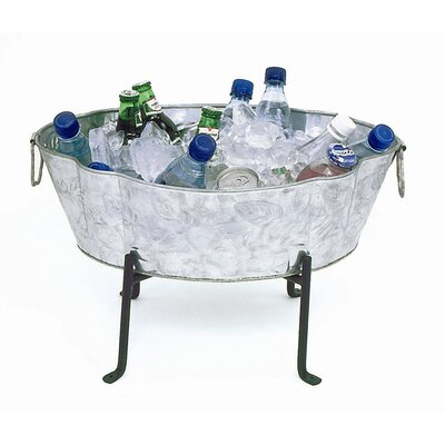 Embossed Oval Tub Planter only Finish: Galvanized Steel
