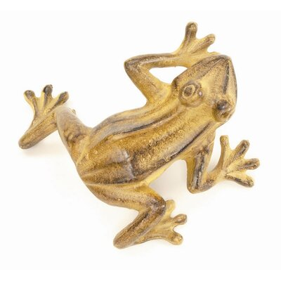 Jumping Frog Statue Color: Tawny