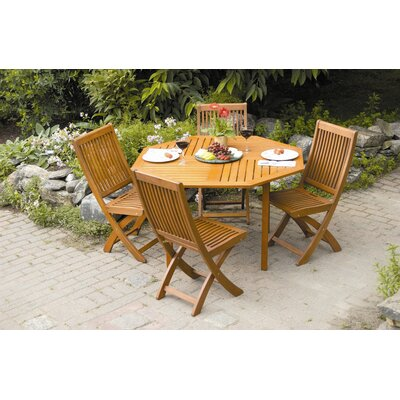 Octagonal 5 Piece Dining Set