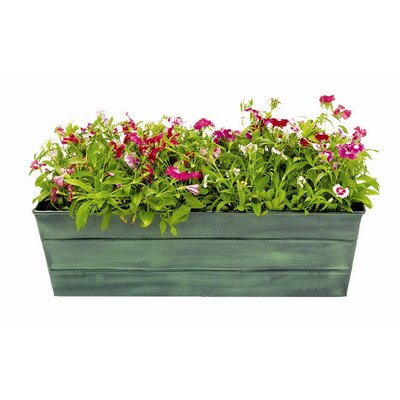 Galvanized Tin Window Box Planter Size: 7.5 H x 24 W x 9.5 D