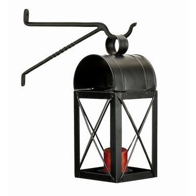 Travis House Iron and Glass Lantern Color: Black