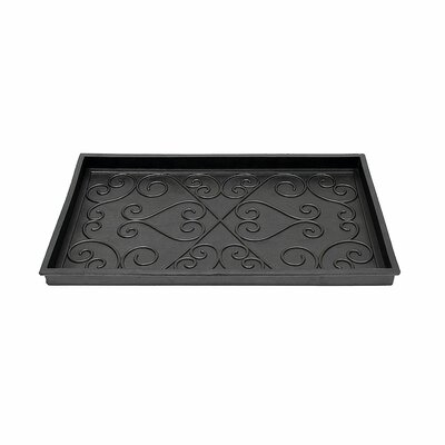 Rachel Small Rubber Scrollwork Boot Tray